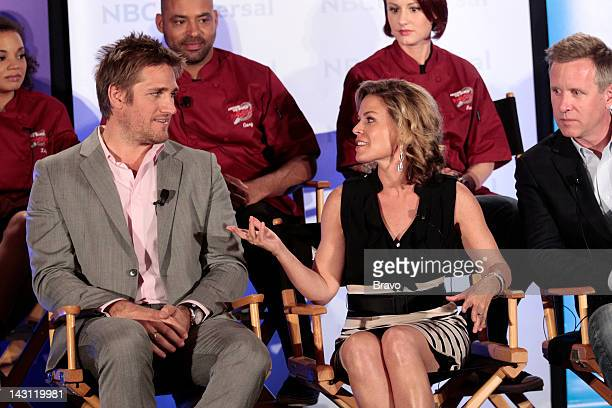 EVENTS NBCUniversal Summer Press Day 2012 'Around The World in 80 Plates' Session Pictured Curtis Stone Gary Walker Cat Cora Avery Pursell Dave...