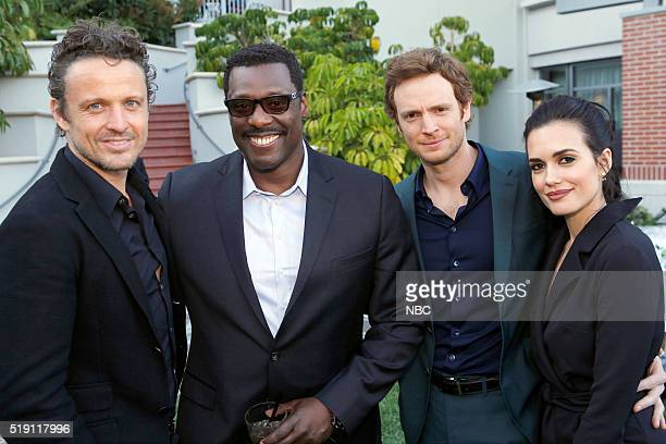EVENTS NBCUniversal Summer Press Day April 1 2016 Cocktail Reception Pictured David Lyons 'Game of Silence' Eamonn Walker 'Chicago Fire' Nick...