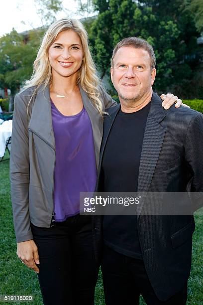EVENTS NBCUniversal Summer Press Day April 1 2016 Cocktail Reception Pictured Gabrielle Reece Strong Tilman Fertitta Billion Dollar Buyer