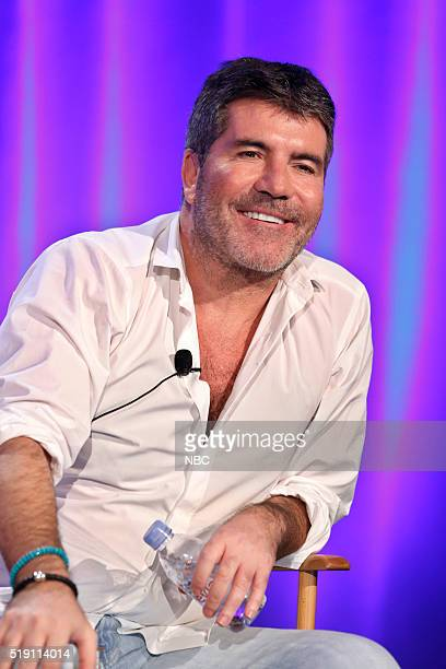EVENTS NBCUniversal Summer Press Day April 1 2016 NBC's 'America's Got Talent' Panel Pictured Simon Cowell Cocreator/Executive Producer Judge