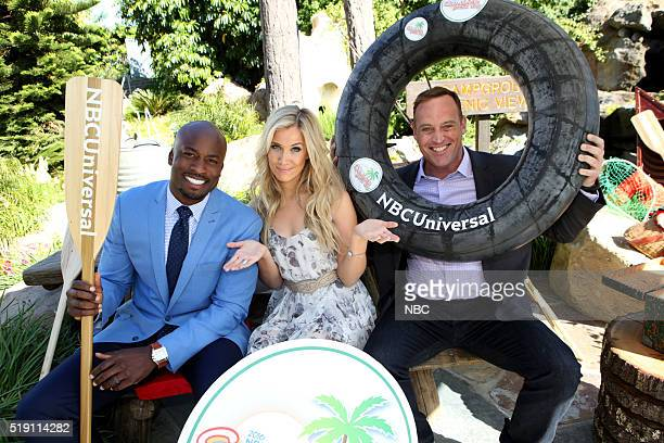EVENTS NBCUniversal Summer Press Day April 1 2016 Pictured Akbar Gbajabiamila Kristine Leahy Matt Iseman 'American Ninja Warrior'