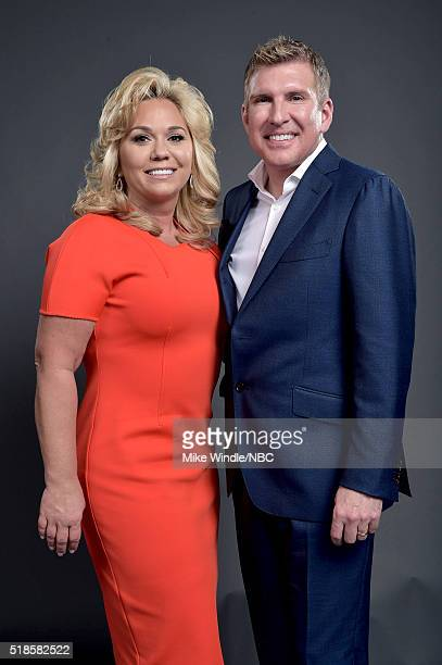 EVENTS NBCUniversal Summer Press Day April 1 2016 Pictured Julie Chrisley and Todd Chrisley of Chrisley Knows Best pose for a portrait during the...