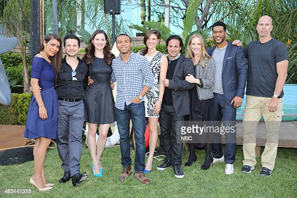 EVENTS NBCUniversal Summer Press Day April 2014 Cocktail Reception Pictured Daniella Alonso Freddy Rodriguez Jill Flint Robert Bailey Jr Jeananne...