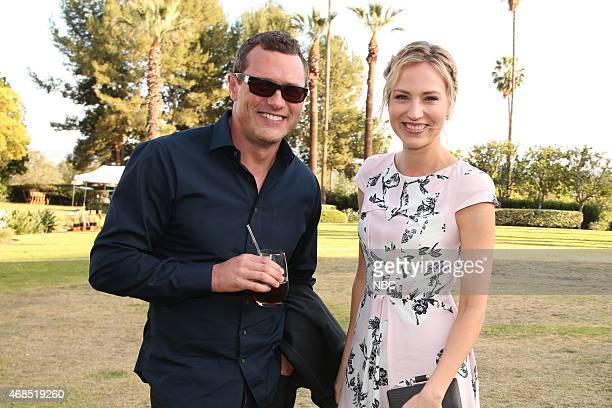 EVENTS NBCUniversal Summer Press Day April 2015 Cocktail Reception Pictured Jason O'Mara Beth Riesgraf Complications