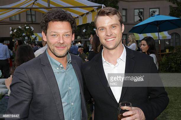 EVENTS NBCUniversal Summer Press Day April 2015 Cocktail Reception Pictured Richard Coyle 'AD The Bible Continues' Jesse Spencer 'Chicago Fire'
