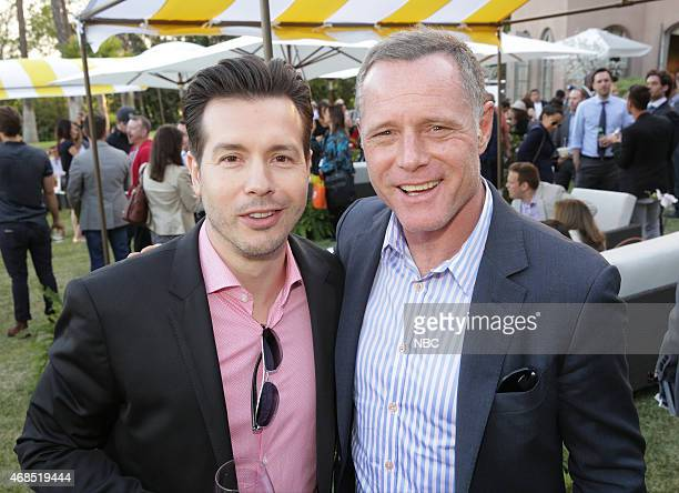 EVENTS NBCUniversal Summer Press Day April 2015 Cocktail Reception Pictured Jon Seda Jason Beghe Chicago PD