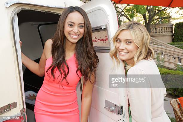 EVENTS NBCUniversal Summer Press Day April 2015 Cocktail Reception Pictured Amber Stevens West The Carmichael Show Spencer Grammer Mr Robinson