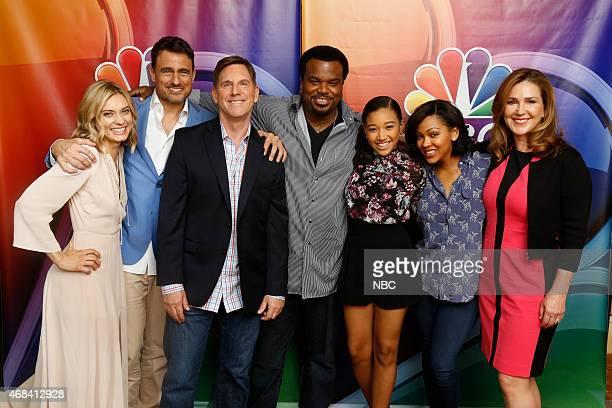 EVENTS NBCUniversal Summer Press Day April 2015 Mr Robinson Pictured Spencer Grammer Ben Koldyke Tim Bagley Craig Robinson Amandla Stenberg Meagan...