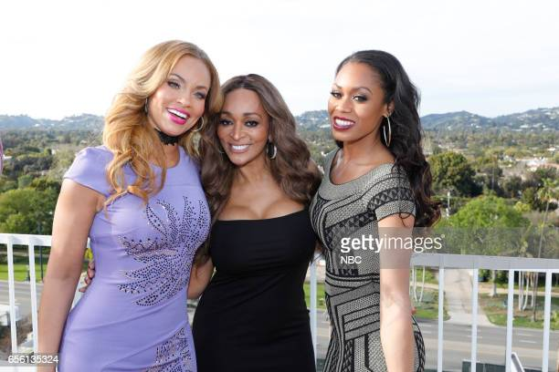 NBCUniversal Summer Press Day Cocktail Reception Pictured Gizelle Bryant Karen Huger Monique Samuels Bravo's The Real Housewives of Potomac
