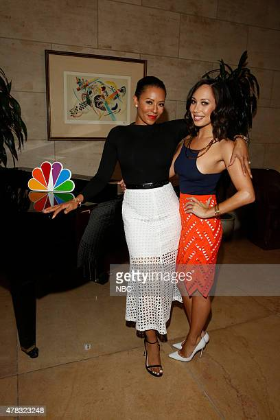 EVENTS NBCUniversal Summer Press Day June 2015 Press Event Pictured Melanie Brown 'Mel B' from 'America's Got Talent' Cheryl Burke from 'Miss USA' on...