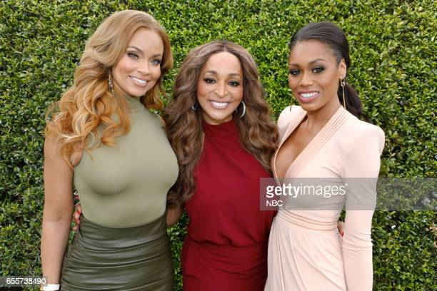 NBCUniversal Summer Press Day Pictured Gizelle Bryant Karen Huger Monique Samuels Bravo's The Real Housewives of Potomac