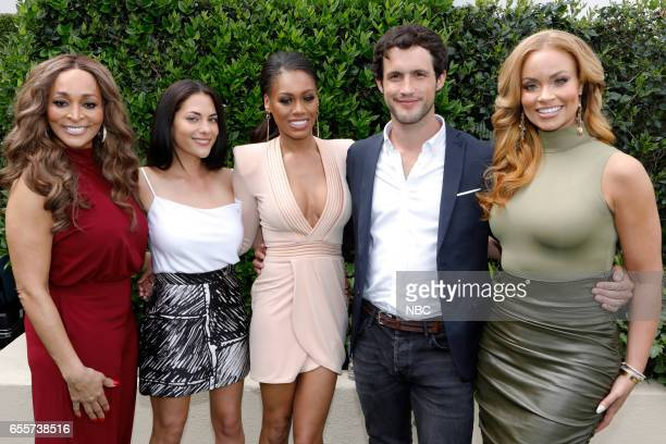 NBCUniversal Summer Press Day Pictured Karen Huger Bravo's The Real Housewives of Potomac Inbar Lavi Bravo's Imposters Monique Samuels Bravo's The...