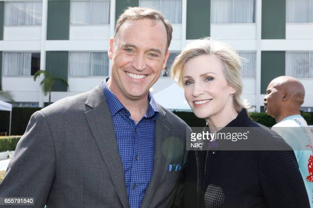 NBCUniversal Summer Press Day Pictured Matt Iseman NBC's 'American Ninja Warrior' Jane Lynch NBC's 'Hollywood Game Night'
