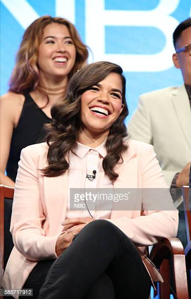EVENTS NBCUniversal Summer Press Tour August 2 2016 NBC's 'Superstore' Panel Pictured Nichole Bloom America Ferrera