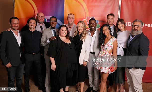 EVENTS NBCUniversal Summer Press Tour August 2 2016 NBC's 'This Is Us' cast Pictured Dan Fogelman Creator/Executive Producer Milo Ventimiglia John...