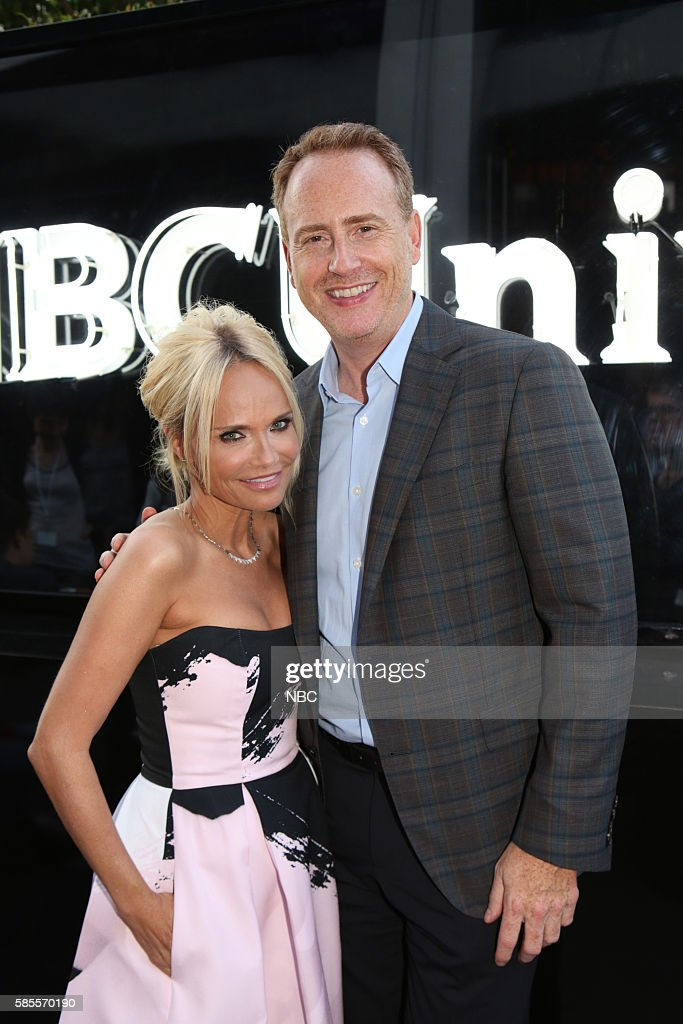 EVENTS -- NBCUniversal Summer Press Tour, August 2, 2016 -- Party at BOA Steakhouse -- Pictured: (l-r) Kristin Chenoweth, Robert Greenblatt, Chairman, NBC Entertainment ?