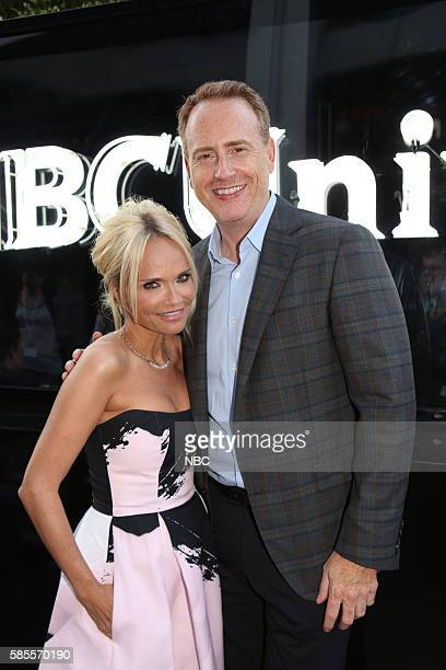 EVENTS NBCUniversal Summer Press Tour August 2 2016 Party at BOA Steakhouse Pictured Kristin Chenoweth Robert Greenblatt Chairman NBC Entertainment