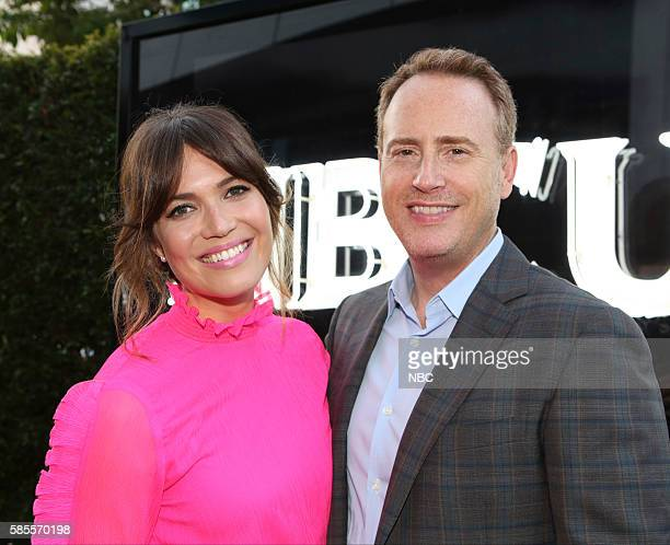 EVENTS NBCUniversal Summer Press Tour August 2 2016 Party at BOA Steakhouse Pictured Mandy Moore The Is Us Robert Greenblatt Chairman NBC...