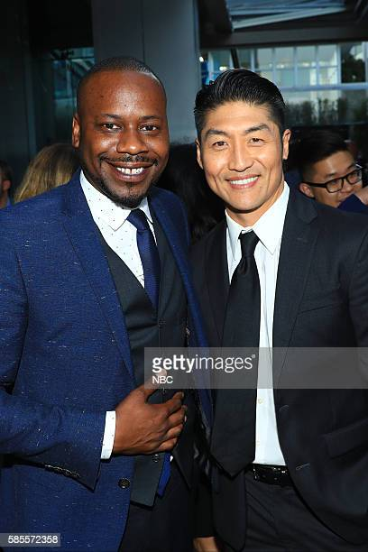 EVENTS NBCUniversal Summer Press Tour August 2 2016 Party at BOA Steakhouse Pictured Malcolm Barrett 'Timeless' Brian Tee 'Chicago Med'