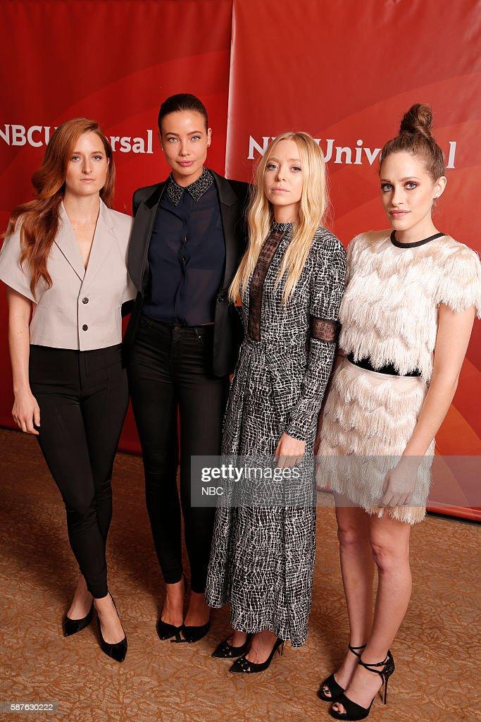 EVENTS -- NBCUniversal Summer Press Tour, August 3, 2016 -- USA's, 'Mr. Robot' cast -- Pictured: (l-r) Grace Gummer, Stephanie Corneliussen, Portia Doubleday, Carly Chaikin --