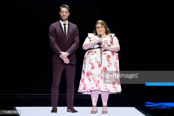 NBCUniversal Upfront in New York City on Monday May 13 2019 Pictured Justin Hartley Chrissy Metz This IS Us on NBC