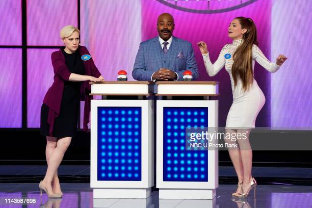 NBCUniversal Upfront in New York City on Monday May 13 2019 Pictured Kate McKinnon Kenan Thompson Melissa Villasenor Saturday Night Live on NBC
