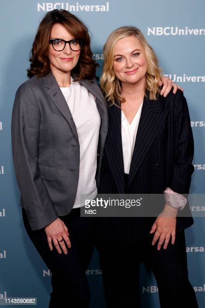 NBCUniversal Upfront in New York City on Monday May 13 2019 Pictured Tina Fey Amy Poehler Making It on NBC