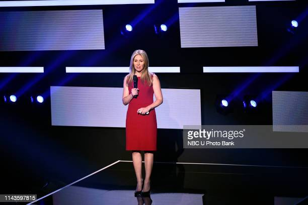 NBCUniversal Upfront in New York City on Monday May 13 2019 Pictured Becky Quick Squawk Box and On The Money on CNBC