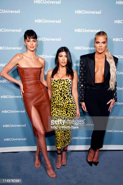 NBCUniversal Upfront in New York City on Monday May 13 2019 Pictured Kendall Jenner Kourtney Kardashian Khloe Kardashian Keeping up with The...