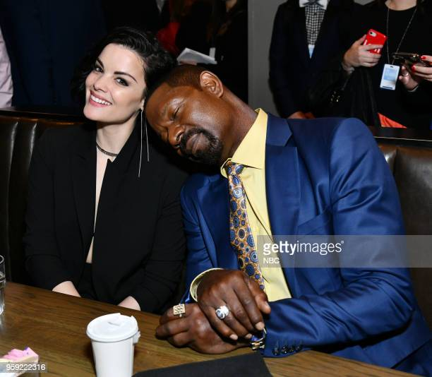 NBCUniversal Upfront in New York City on Monday May 14 2018 Executive Portraits Pictured Jaimie Alexander Blindspot on NBC Dennis Haysbert Reverie on...