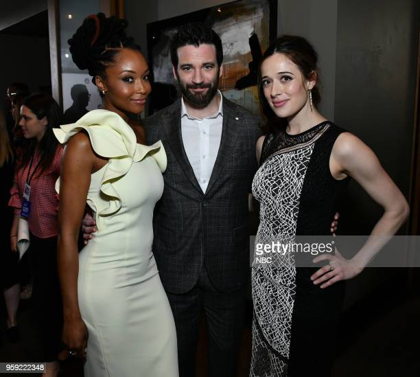 """NBCUniversal Upfront in New York City on Monday, May 14, 2018 -- Executive Portraits -- Pictured: Yaya DaCosta, Colin Donnell """"Chicago Med"""" on NBC,..."""