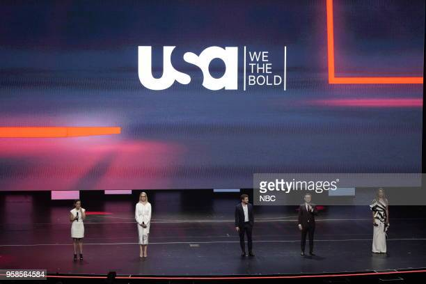 NBCUniversal Upfront in New York City on Monday May 14 2018 Pictured Alice Braga 'Queen of the South' on USA Network Katherine Heigl 'Suits' on USA...