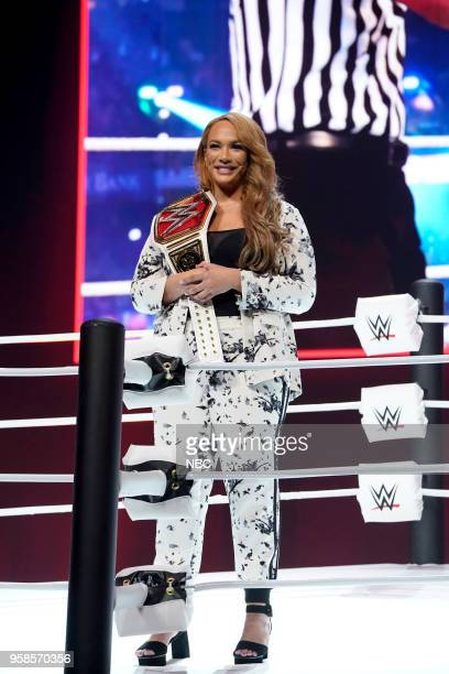 NBCUniversal Upfront in New York City on Monday May 14 2018 Pictured Nia Jax WWE on USA Network