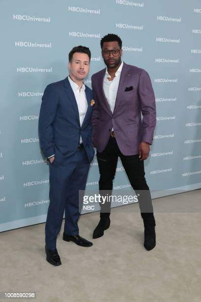 NBCUniversal Upfront in New York City on Monday May 14 2018 Red Carpet Pictured Jon Seda LaRoyce Hawkins 'Chicago PD' on NBC