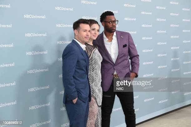 NBCUniversal Upfront in New York City on Monday May 14 2018 Red Carpet Pictured Jon Seda Marina Squerciati LaRoyce Hawkins 'Chicago PD' on NBC