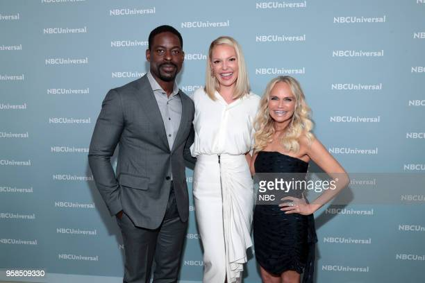 NBCUniversal Upfront in New York City on Monday May 14 2018 Red Carpet Pictured Sterling K Brown 'This is Us' on NBC Katherine Heigl 'Suits' on USA...