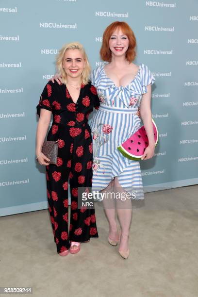 NBCUniversal Upfront in New York City on Monday May 14 2018 Red Carpet Pictured Mae Whitman Christina Hendricks 'Good Girls' on NBC