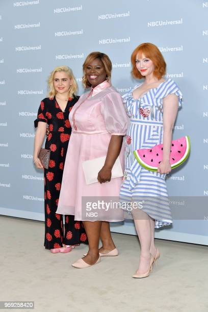 NBCUniversal Upfront in New York City on Monday May 14 2018 Red Carpet Pictured Mae Whitman Retta Christina Hendricks 'Good Girls' on NBC