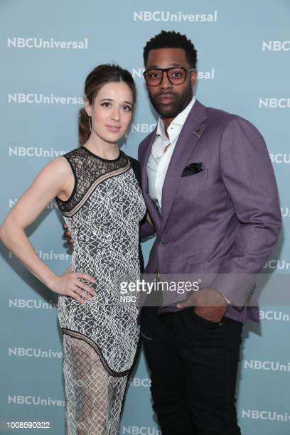NBCUniversal Upfront in New York City on Monday May 14 2018 Red Carpet Pictured Marina Squerciati LaRoyce Hawkins 'Chicago PD' on NBC