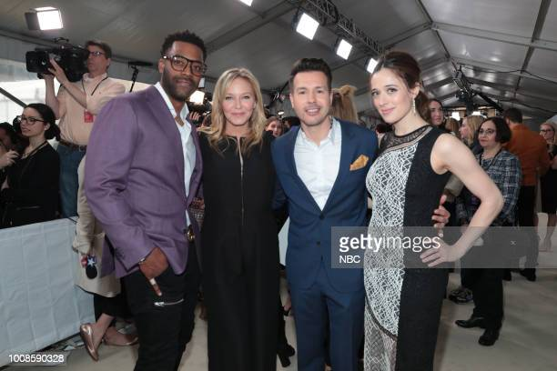 NBCUniversal Upfront in New York City on Monday May 14 2018 Red Carpet Pictured LaRoyce Hawkins 'Chicago PD' on NBC Kelli Giddish 'Law Order Special...
