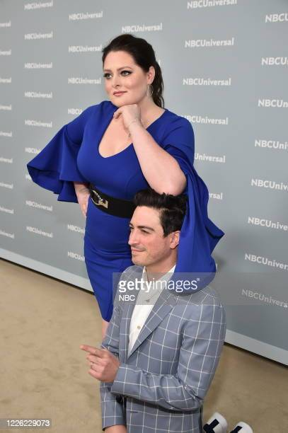 """NBCUniversal Upfront in New York City on Monday, May 14, 2018 -- Red Carpet -- Pictured: Lauren Ash, Ben Feldman, """"SuperStore"""" on NBC --"""