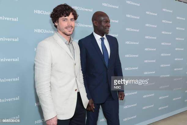 NBCUniversal Upfront in New York City on Monday May 14 2018 Red Carpet Pictured Francois Arnaud Peter Mensah 'Midnight Texas' on NBC