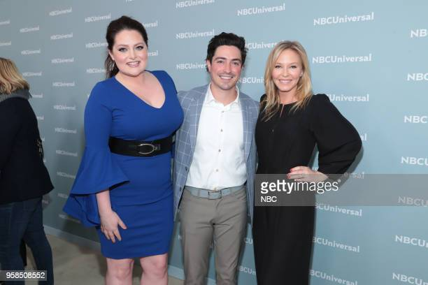 NBCUniversal Upfront in New York City on Monday May 14 2018 Red Carpet Pictured Lauren Ash Ben Feldman 'Superstore' on NBC Kelli Giddish Law Order...