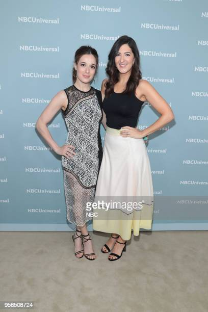 NBCUniversal Upfront in New York City on Monday May 14 2018 Red Carpet Pictured Marina Squerciati 'Chicago PD' on NBC D'Arcy Carden 'The Good Place'...