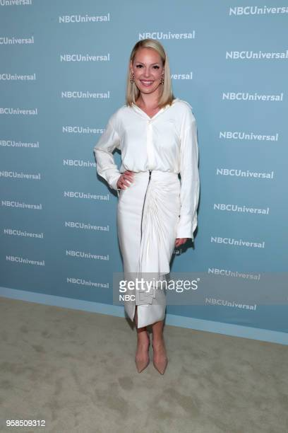 NBCUniversal Upfront in New York City on Monday May 14 2018 Red Carpet Pictured Katherine Heigl Suits on USA Network Derek Hough NEYO World of Dance...