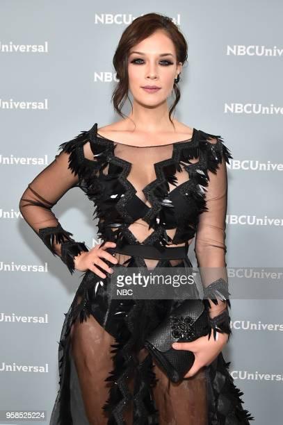 NBCUniversal Upfront in New York City on Monday May 14 2018 Red Carpet Pictured Carolina Miranda Senora Acero on Telemundo