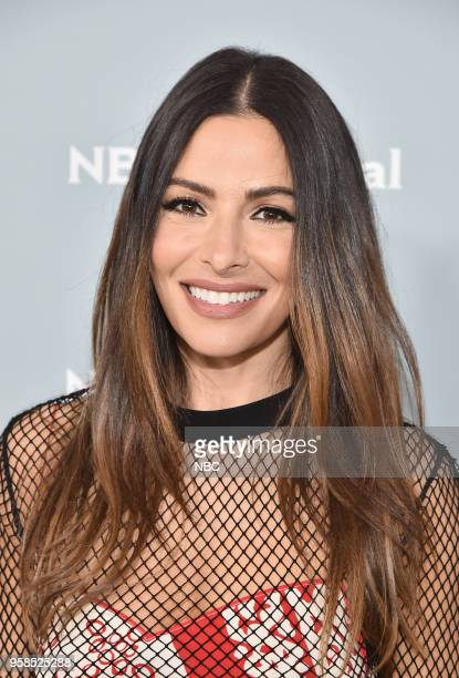 NBCUniversal Upfront in New York City on Monday May 14 2018 Red Carpet Pictured Sarah Shahi 'Reverie' on NBC