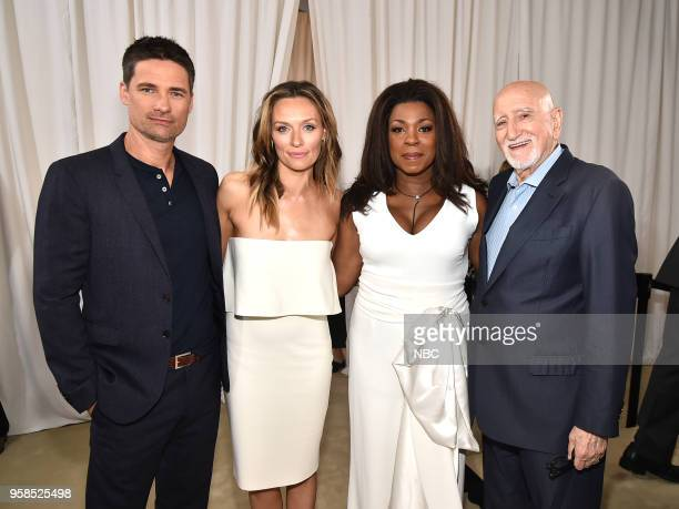 NBCUniversal Upfront in New York City on Monday May 14 2018 Red Carpet Pictured Warren Christie Michaea McManus Lorranine Toussaint Dominic Chianese...