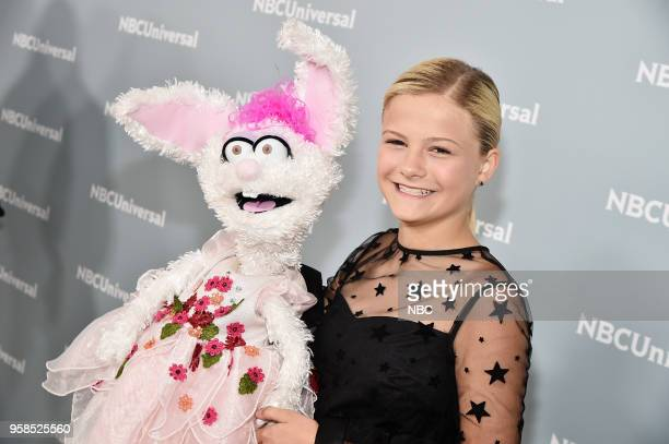 NBCUniversal Upfront in New York City on Monday May 14 2018 Red Carpet Pictured Darci Lynne Farmer America's Got Talent on NBC