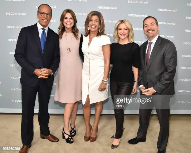 NBCUniversal Upfront in New York City on Monday May 14 2018 Red Carpet Pictured Lester Holt 'NBC Nightly News' on NBC News Savannah Guthrie Hoda Kotb...